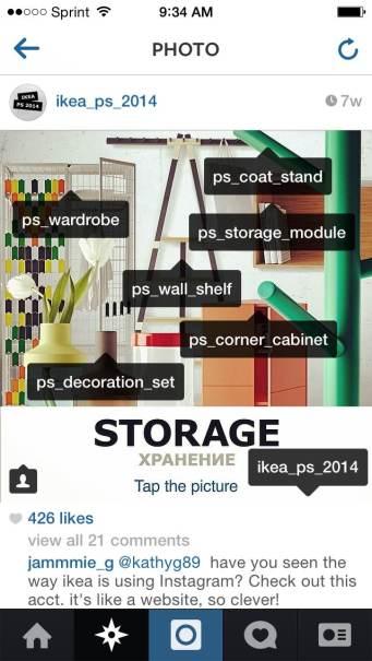 IKEA Instagram account