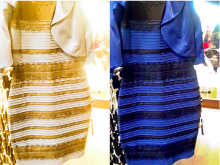 #TheDress. Blue and Black or White and Gold