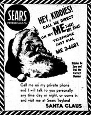 Sears Roebuck & Co Santa ad